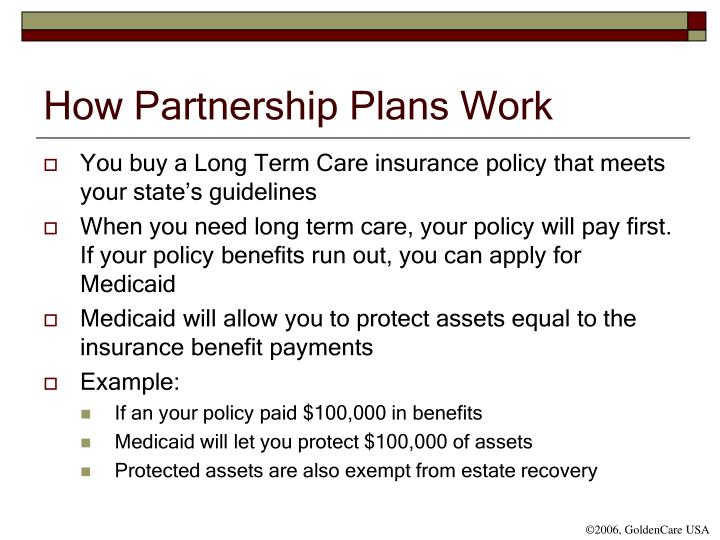 How Partnership Plans Work
