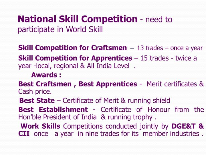 National Skill Competition