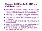 national skill standards nss and their importance