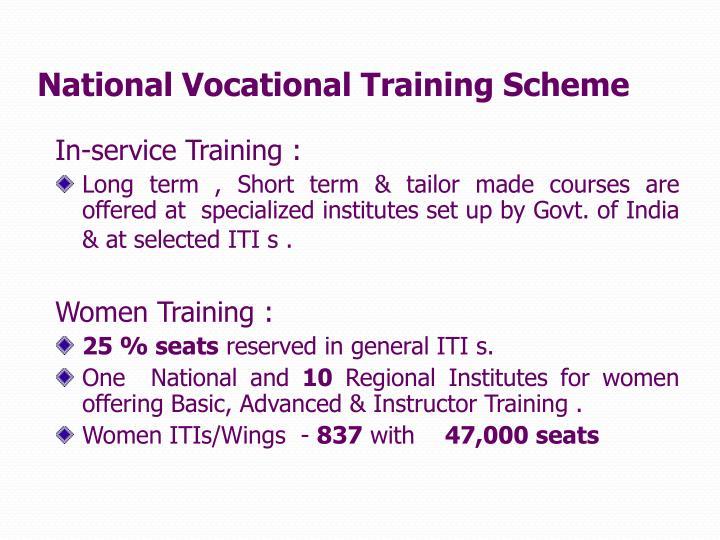 National Vocational Training Scheme