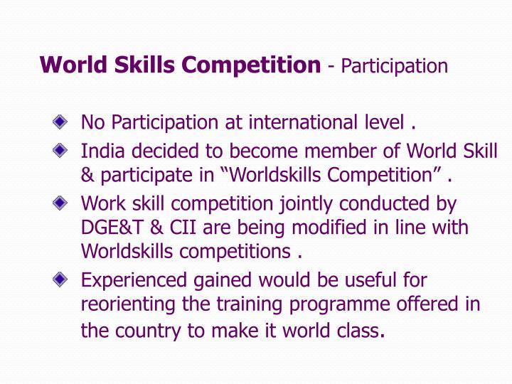 World Skills Competition