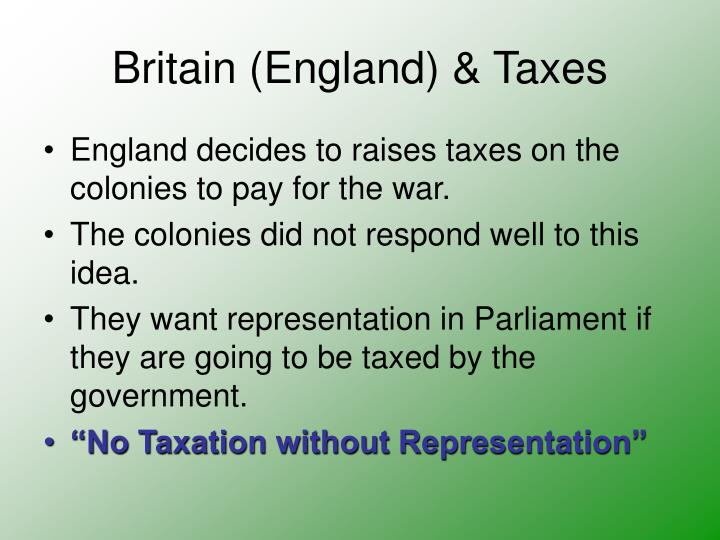 Britain (England) & Taxes