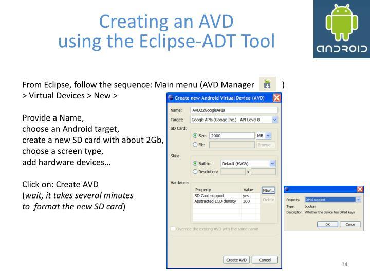 Creating an AVD