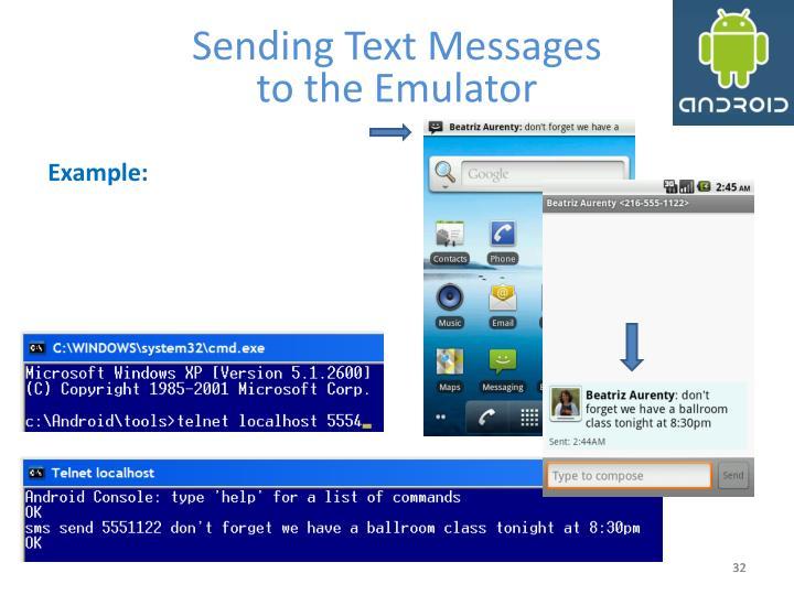 Sending Text Messages