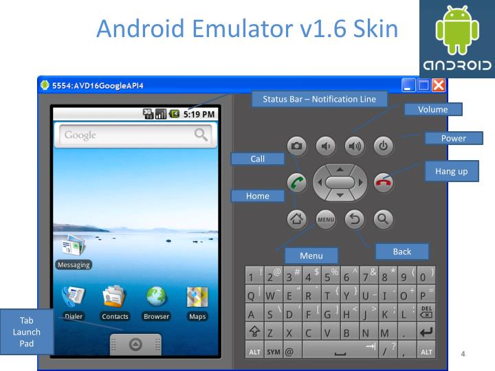 Android Emulator v1.6 Skin