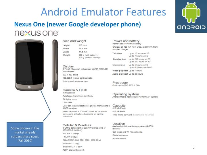 Android Emulator Features