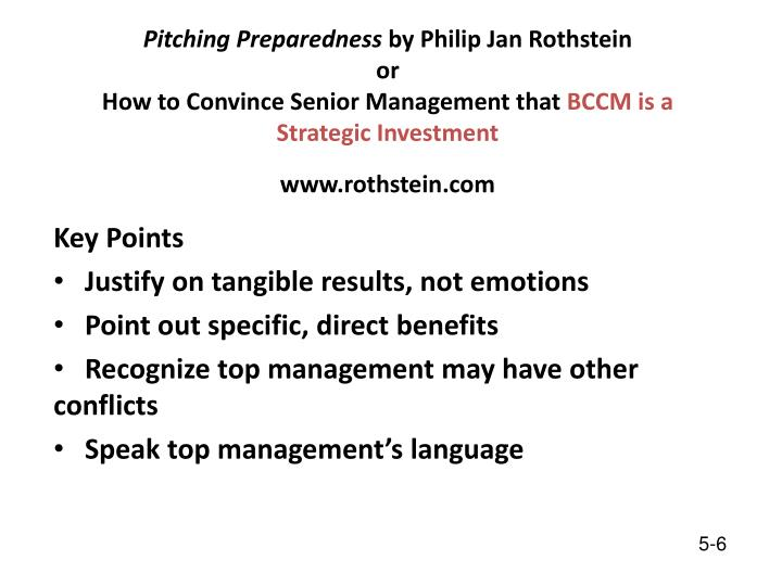 Pitching Preparedness