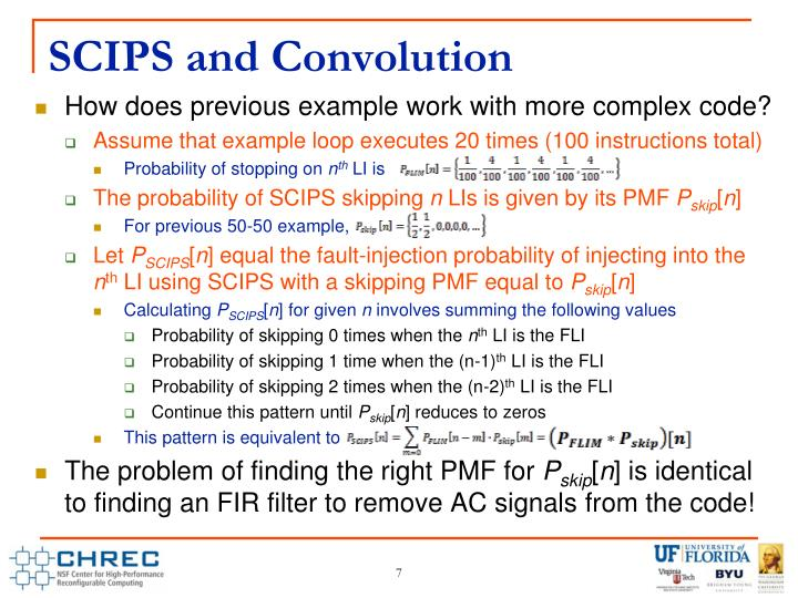 SCIPS and Convolution