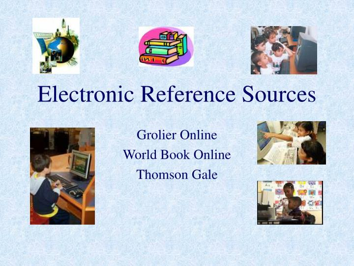 electronic reference sources