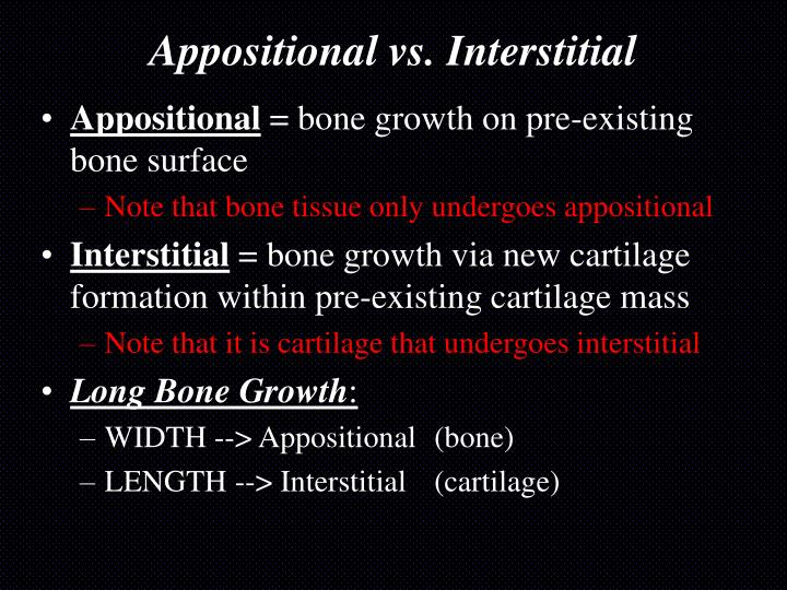 Appositional vs. Interstitial