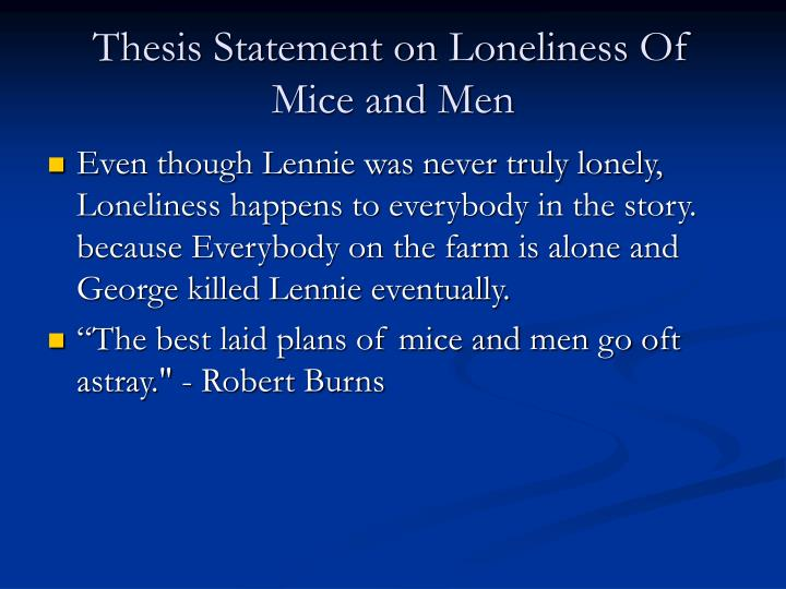 Best Thesis Statement