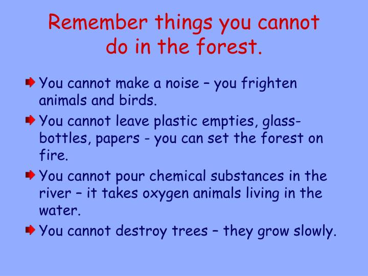 Remember things you cannot