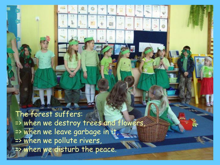 The forest suffers: