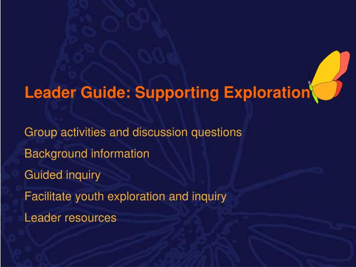 Leader Guide: Supporting Exploration