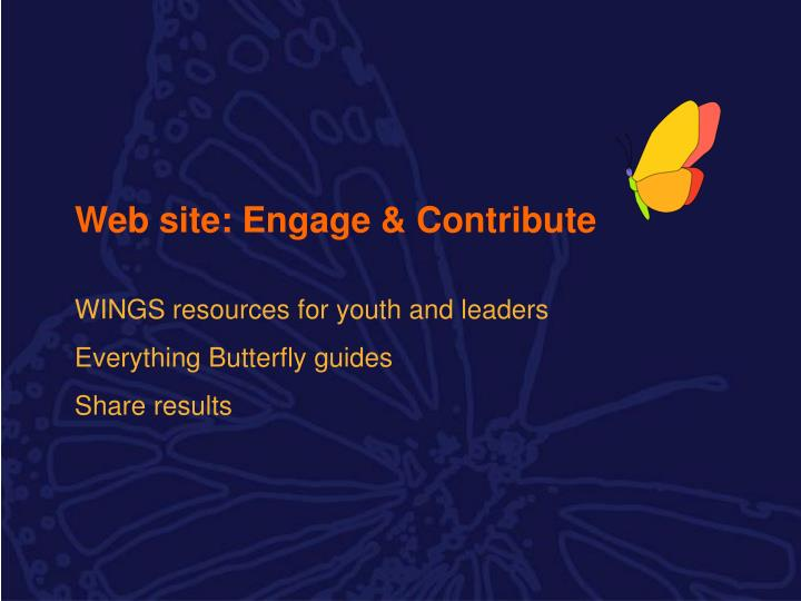 Web site: Engage & Contribute