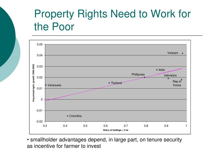 Property Rights Need to Work for the Poor