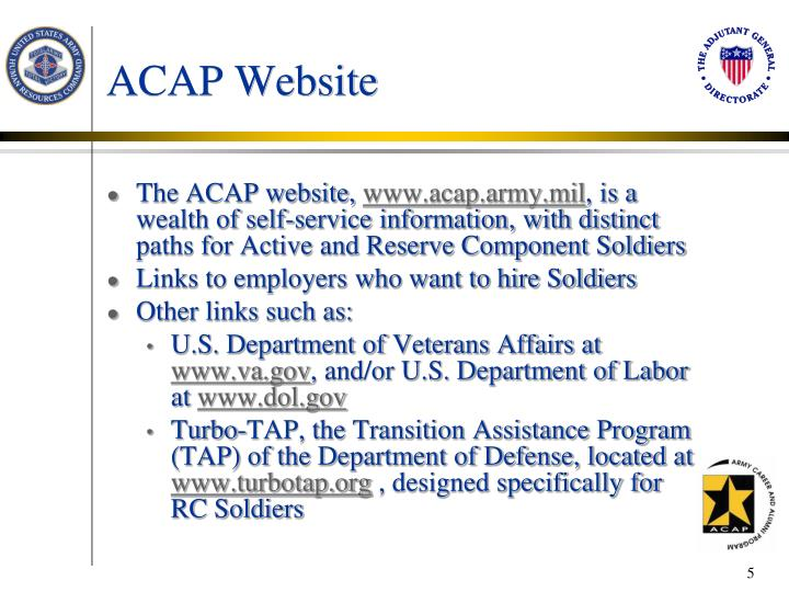ACAP Website