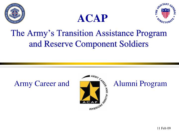 The army s transition assistance program and reserve component soldiers