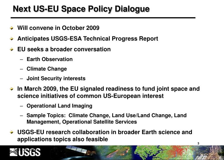 Next US-EU Space Policy Dialogue