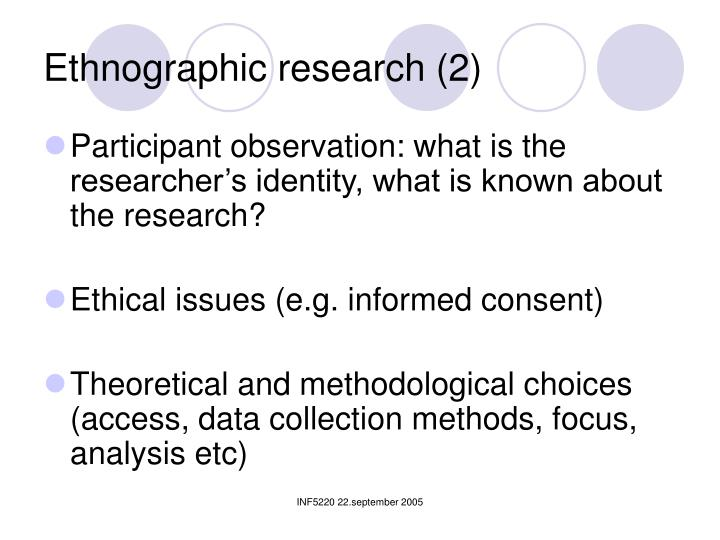 Ethnographic research (2)