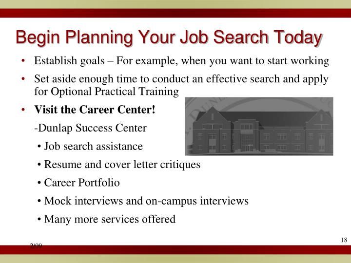 Begin Planning Your Job Search Today