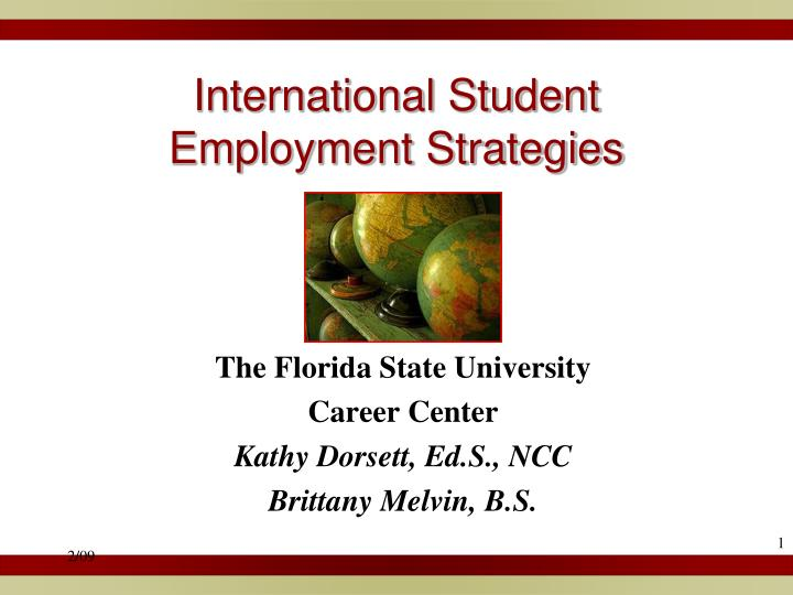 International student employment strategies