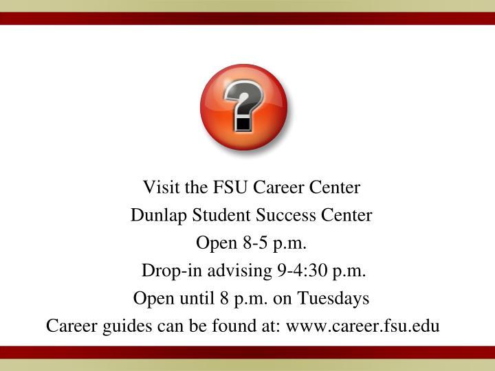 Visit the FSU Career Center