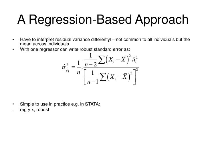 A Regression-Based Approach