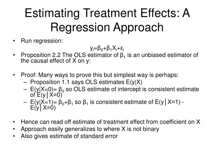 Estimating Treatment Effects: A Regression Approach