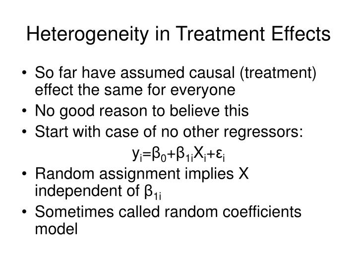 Heterogeneity in Treatment Effects