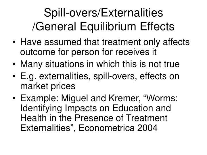 Spill-overs/Externalities