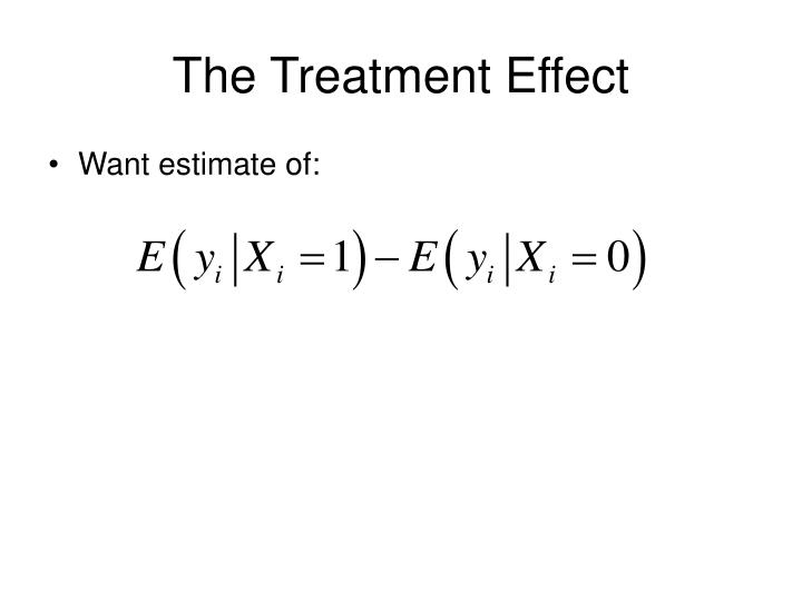 The Treatment Effect