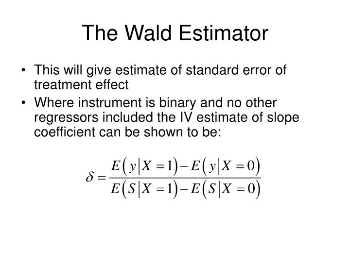 The Wald Estimator