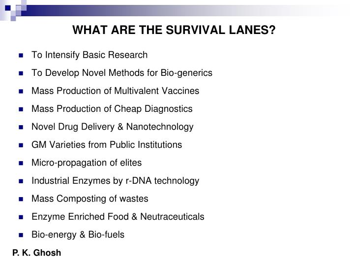 WHAT ARE THE SURVIVAL LANES?