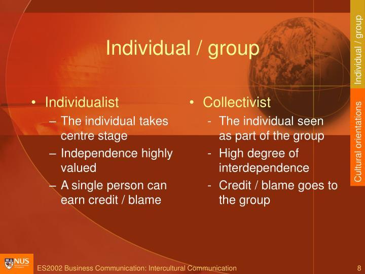 Individual / group