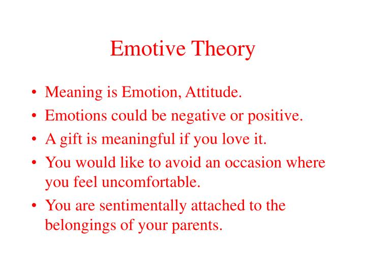 Emotive Theory