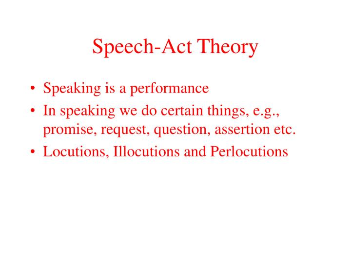 Speech-Act Theory