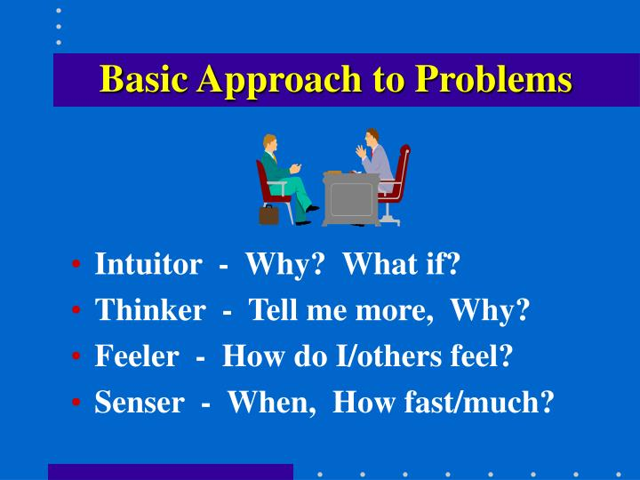 Basic Approach to Problems