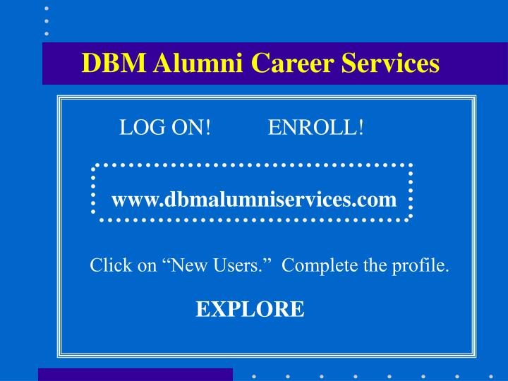 DBM Alumni Career Services