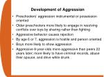 development of aggression