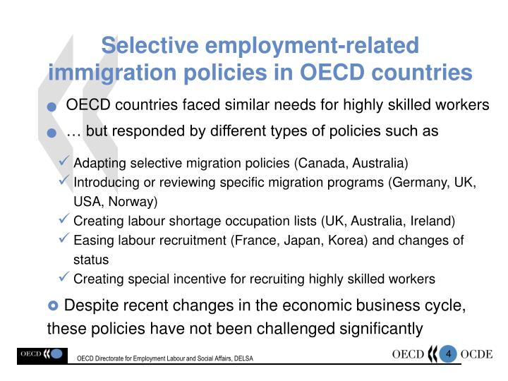 OECD Directorate for Employment Labour and Social Affairs,