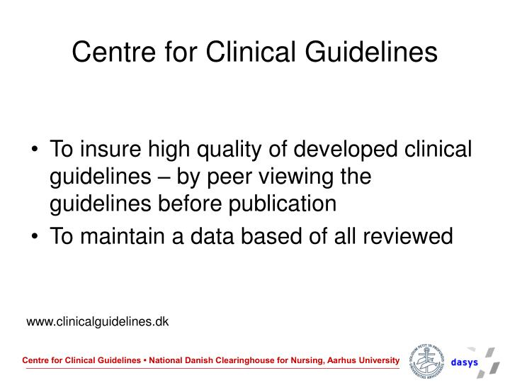 Centre for Clinical Guidelines