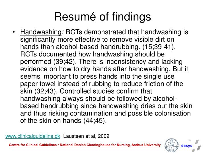 Resumé of findings