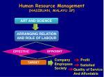 human resource management hasibuan malayu sp