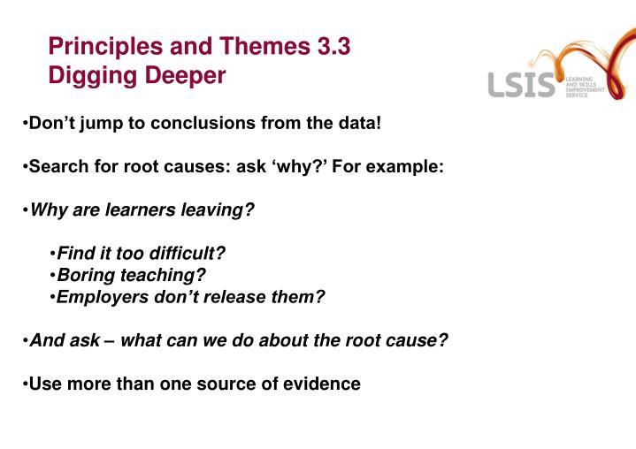 Principles and Themes 3.3