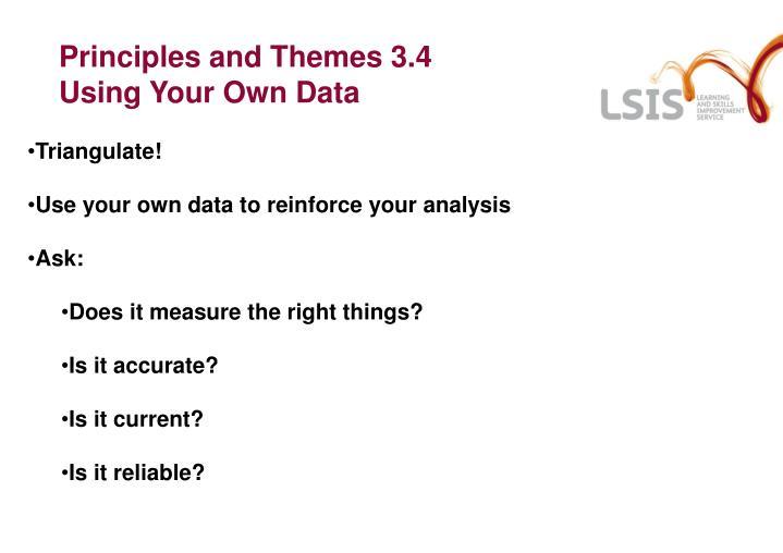 Principles and Themes 3.4
