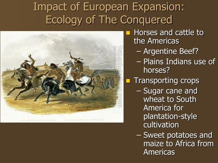 the european expansion and its impact Though we cannot expect to find the ultimate causes for the european expansion the great age of exploration and discovery was inaugurated by the portuguese.