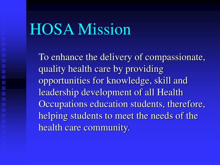 HOSA Mission