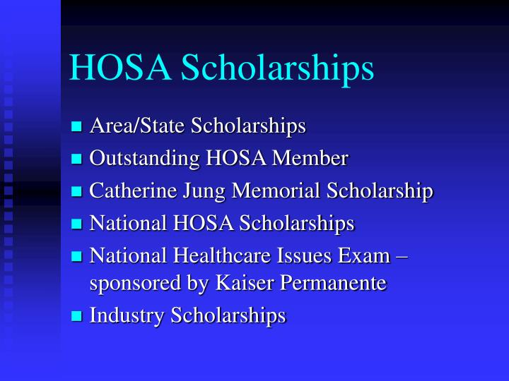HOSA Scholarships