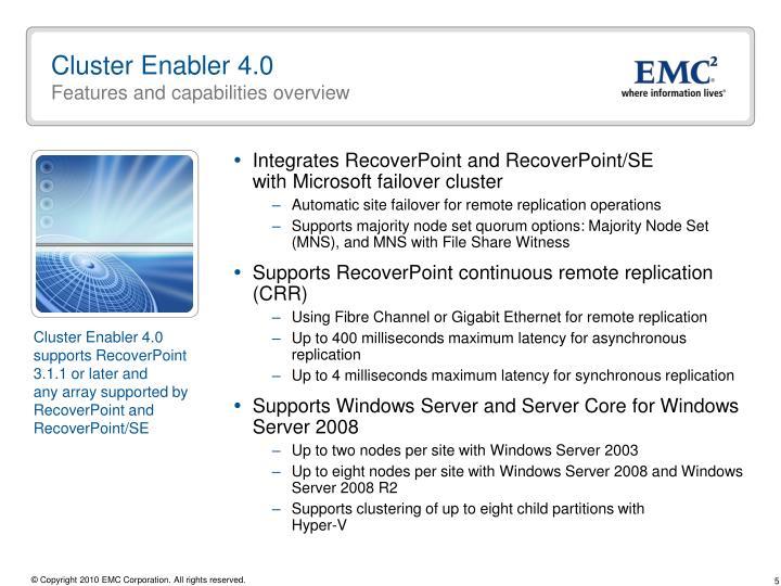 Cluster Enabler 4.0